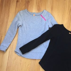 Set of two Lucy sweatshirts with zipper detail